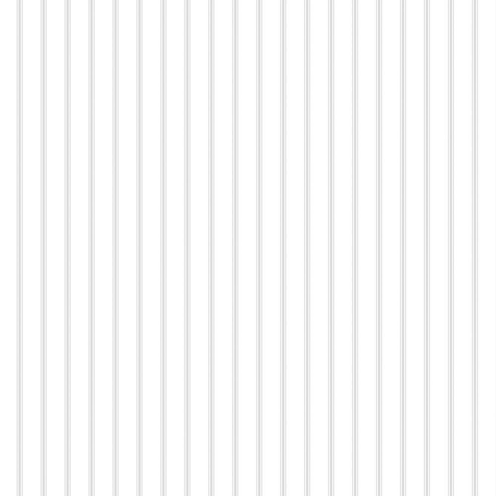 Ticking Grey Stripe Wallpaper