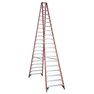 20 ft. Fiberglass Twin Step Ladder with 300 lb. Load Capacity Type IA