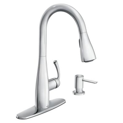 Essie Single-Handle Pull-Down Sprayer Kitchen Faucet with Reflex and Power Clean in Chrome