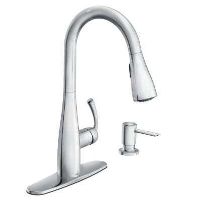 Essie Single-Handle Pull-Down Sprayer Kitchen Faucet with Reflex and Powerclean in Chrome