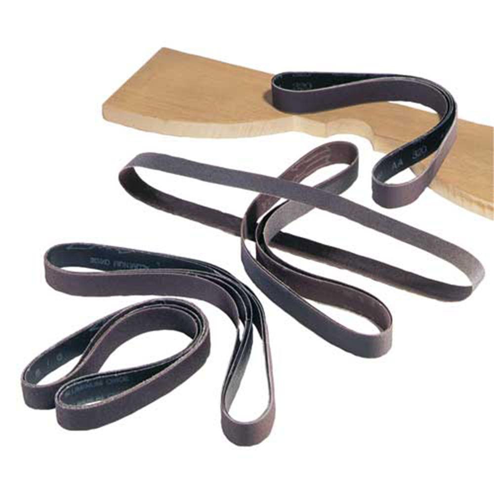 1 in. x 42 in. 320-Grit Aluminum Oxide Sanding Belt (5-Piece)