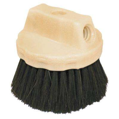 9 in. Black Horsehair Concrete Hand Brush-Wood Block