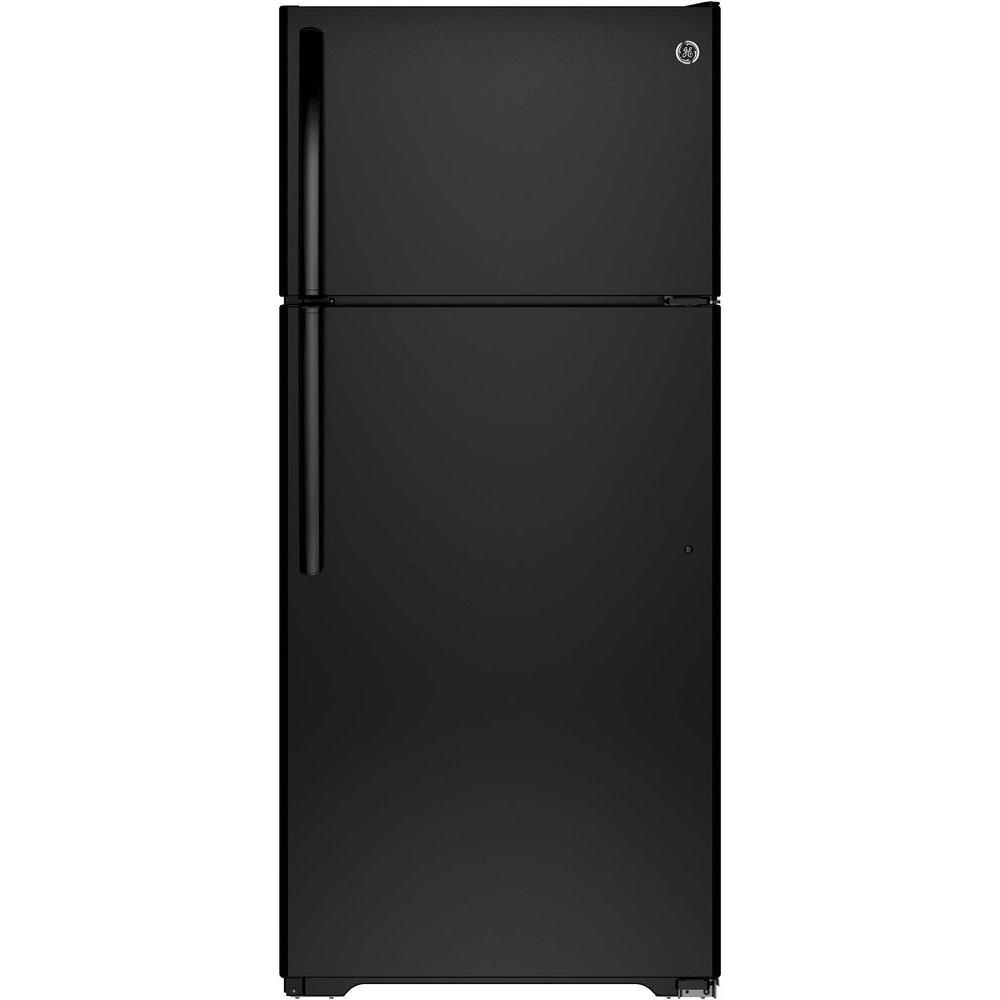 15.5 cu. ft. Top Freezer Refrigerator in Black