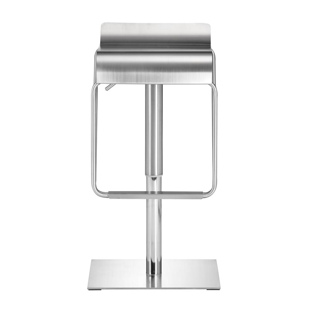 ZUO Dazzer Adjustable Height Brushed Stainless Steel Bar Stool  sc 1 st  The Home Depot & ZUO Dazzer Adjustable Height Brushed Stainless Steel Bar Stool ... islam-shia.org