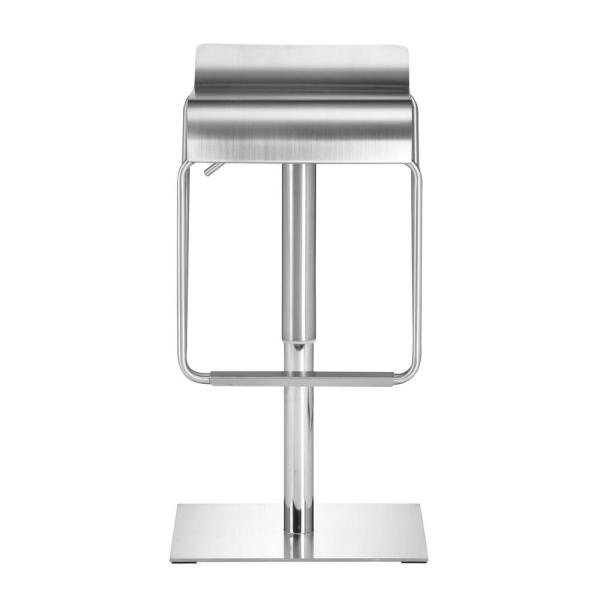 Cool Zuo Dazzer Adjustable Height Brushed Stainless Steel Bar Forskolin Free Trial Chair Design Images Forskolin Free Trialorg