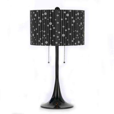 8438 29.5 in. Black Table Lamp