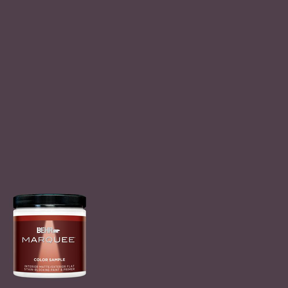 8 oz. #T13-10 Plum Orbit Matte Interior/Exterior Paint Sample
