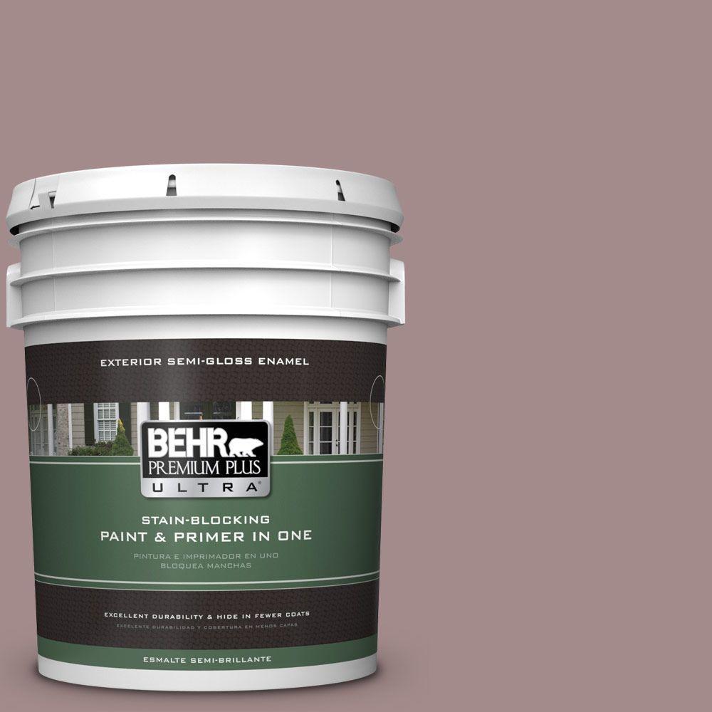 BEHR Premium Plus Ultra 5-gal. #PPU17-15 Cameo Rose Semi-Gloss Enamel Exterior Paint