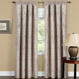 Achim Blackout Sutton 36 inch L Polyester Waterfall Valance in Tan by Achim
