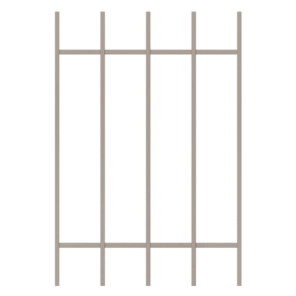 Unique Home Designs Guardian 24 in. x 36 in. Tan 5-Bar Window Guard-DISCONTINUED