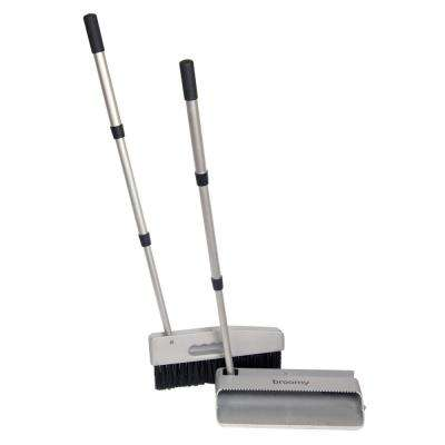 Broomy 10 in. 3 in 1 Transformable Broom, Dustpan and Brush Set with Retractable Aluminum Handles