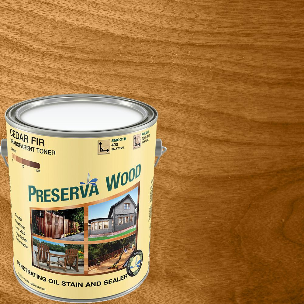 Preserva Wood 1 gal. Oil-Based Cedar-Fir Penetrating Exterior Stain and Sealer