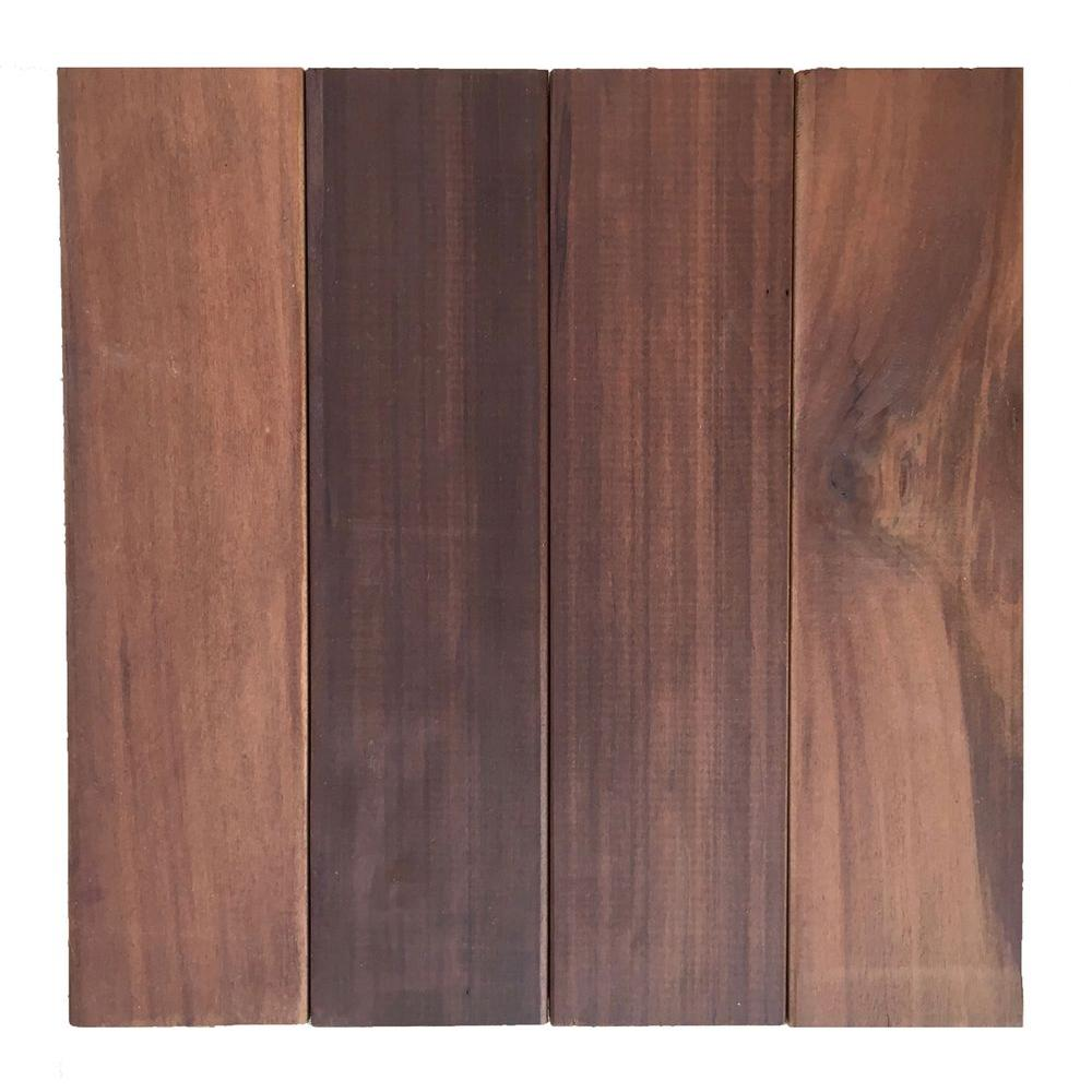 Floor-To-Go 0.92 ft. x 0.92 ft. Non-Slip Thermo-Treated Wood Floor/Deck Tile