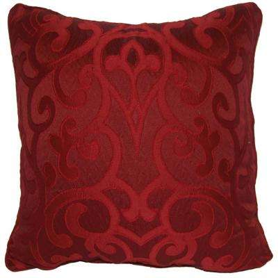 Erin Burgundy Standard Decorative Pillow