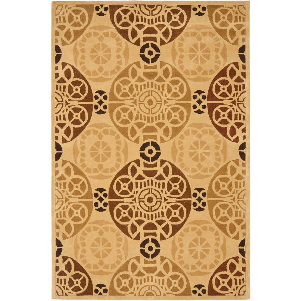 Safavieh Capri Gold/Multi 6 ft. x 9 ft. Area Rug