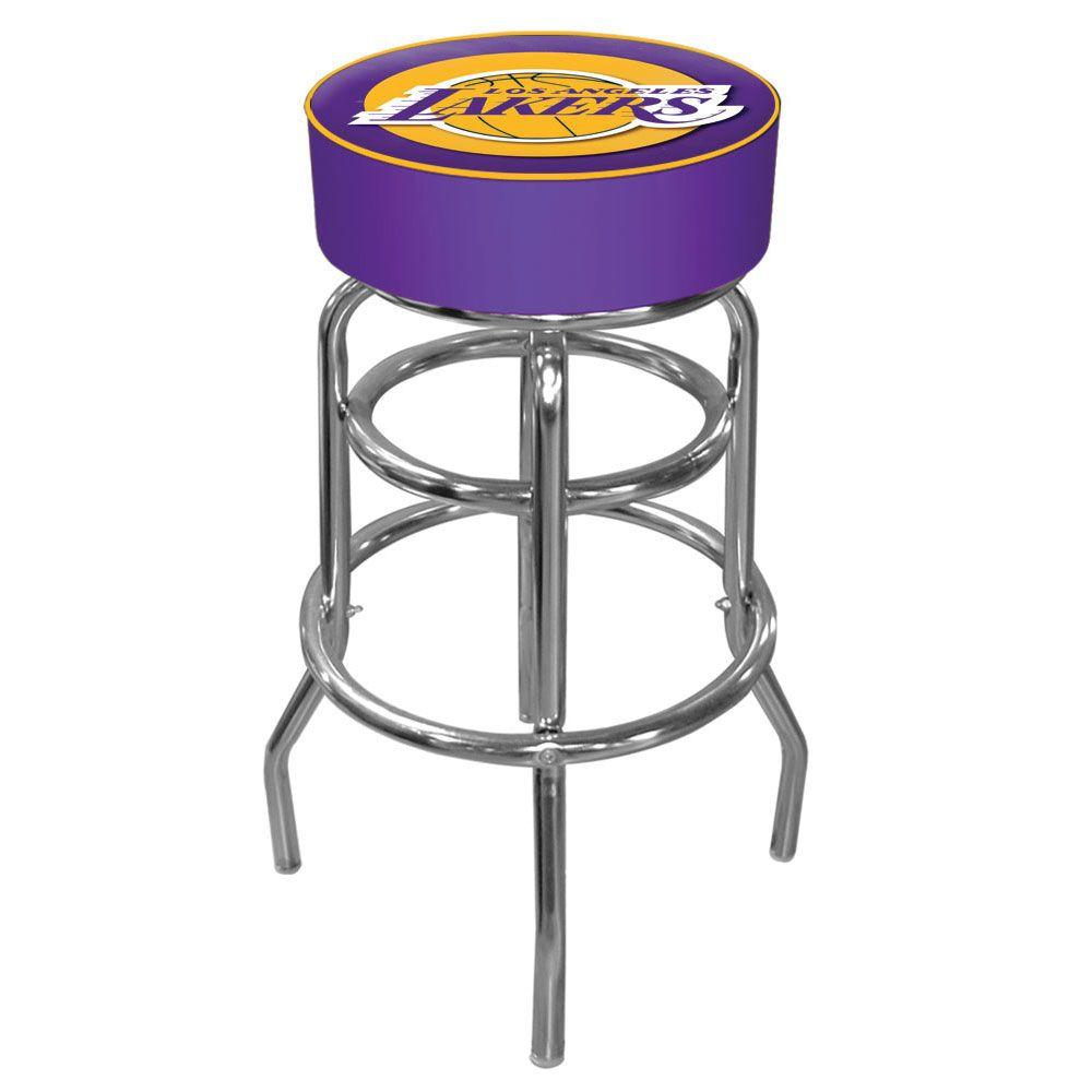 Los Angeles Lakers NBA 31 in. Chrome Padded Swivel Bar Stool