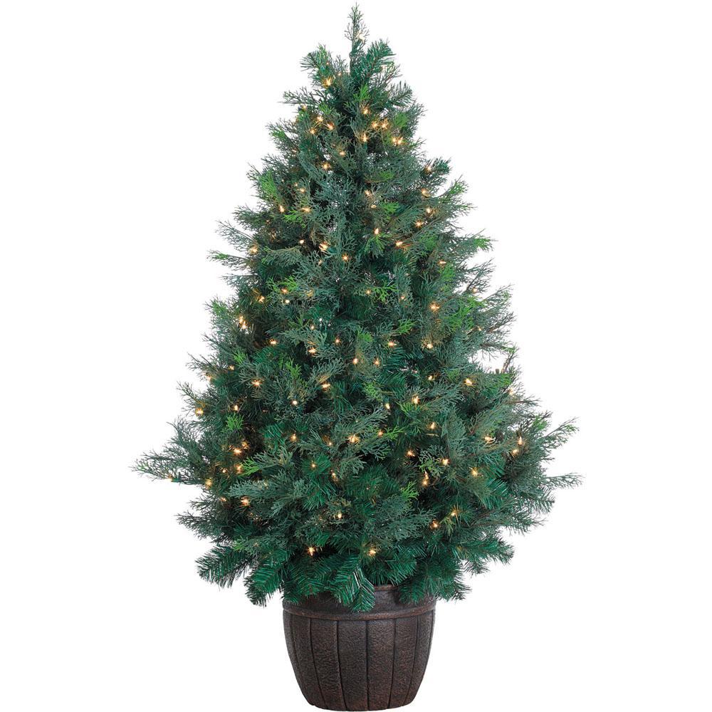 5 Ft Pre Lit Northern Cedar Artificial Christmas Tree