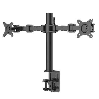 Desk Mount Stand Computer Dual Monitor Arm Fits 10 in. - 27 in. LCD Screens Support 22 lbs. Each Monitor