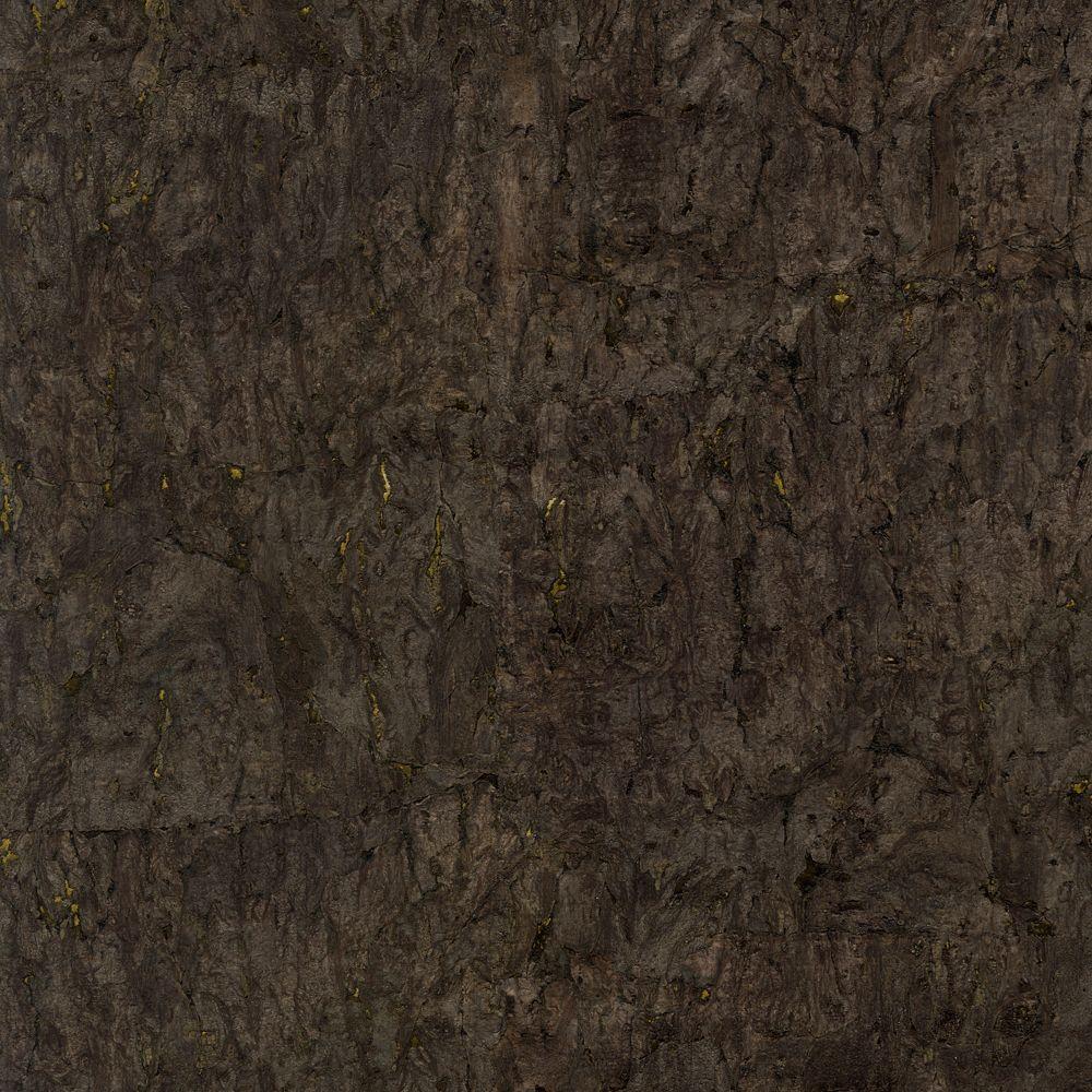 The Wallpaper Company 72 sq. ft. Black Cork Wallpaper