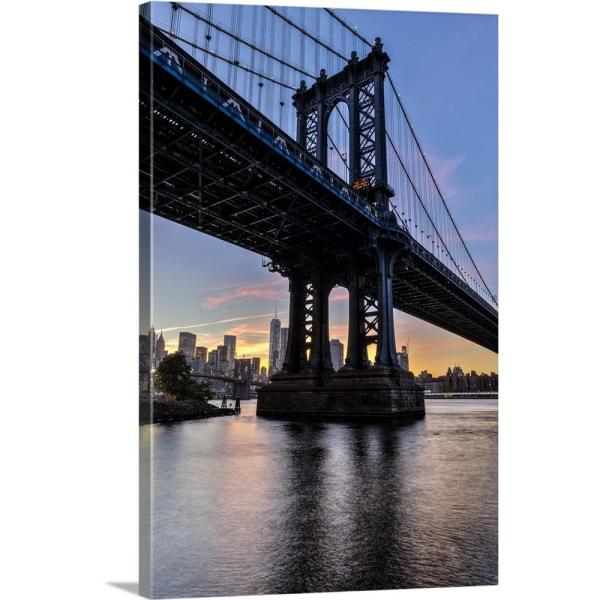 NEW YORK TWIN TOWERS  MEMORIAL BROOKLYN BRIDGE CANVAS PRINT PICTURE WALL ART