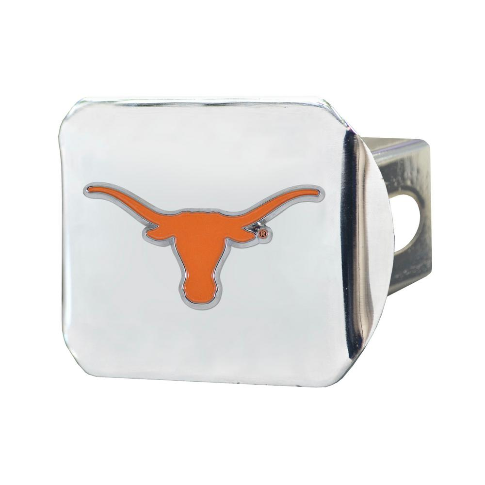 University of Texas Chrome Hitch Cover with Color Emblem