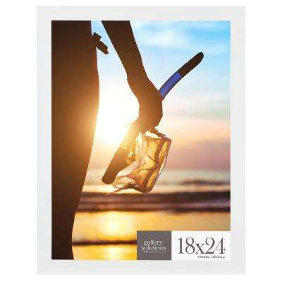 18 in. x 24 in. White Flat Poster Picture Frame