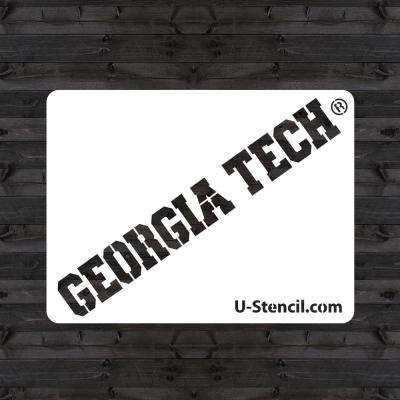 """GEORGIA TECH"" Mini Stencil"