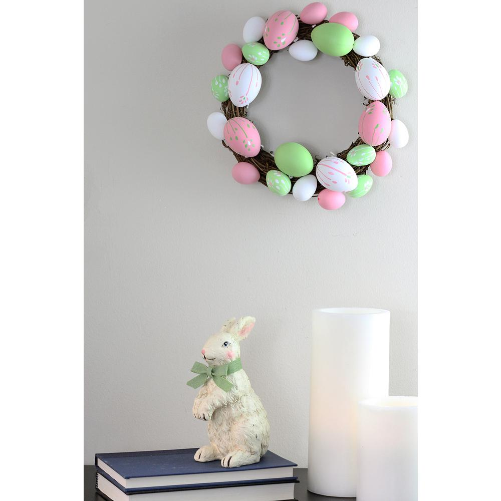 Grapevine 10 in. Pastel Pink, Green and White Floral Stem...
