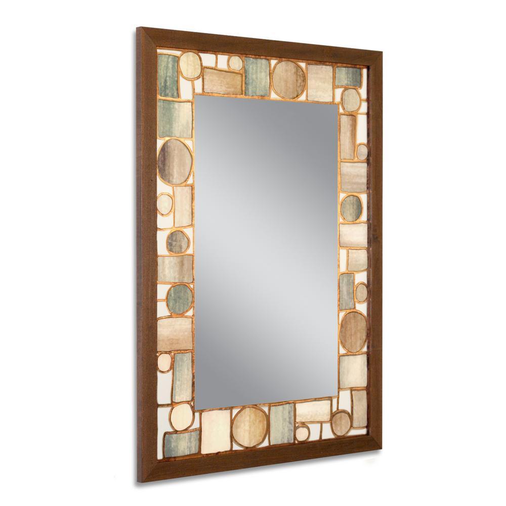 24.5 in. W x 34.5 in. H Oak Park Wall Mirror