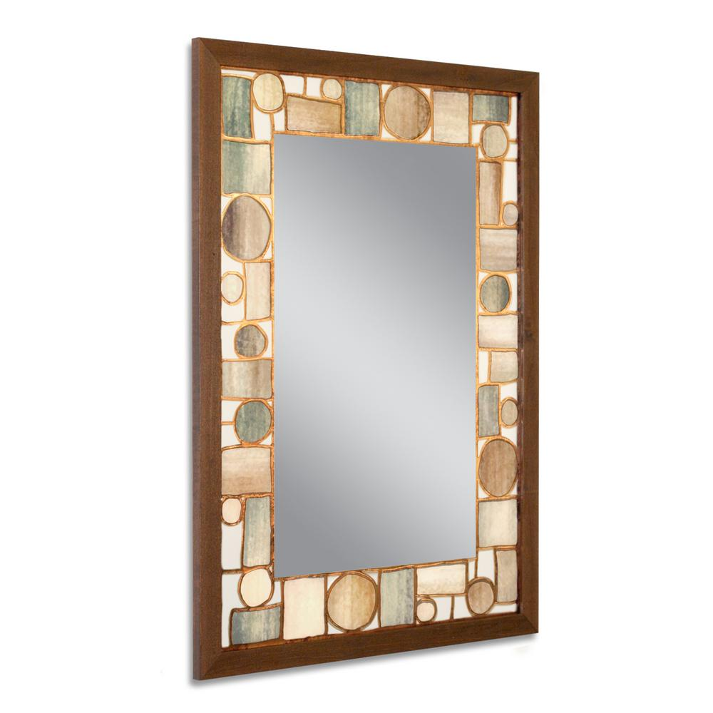 Deco mirror 24 5 in w x 34 5 in h oak park wall mirror for 4 x 5 wall mirror