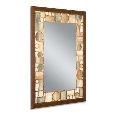 24.5 in. W x 34.5 in. H Oak Park Wall Mirror