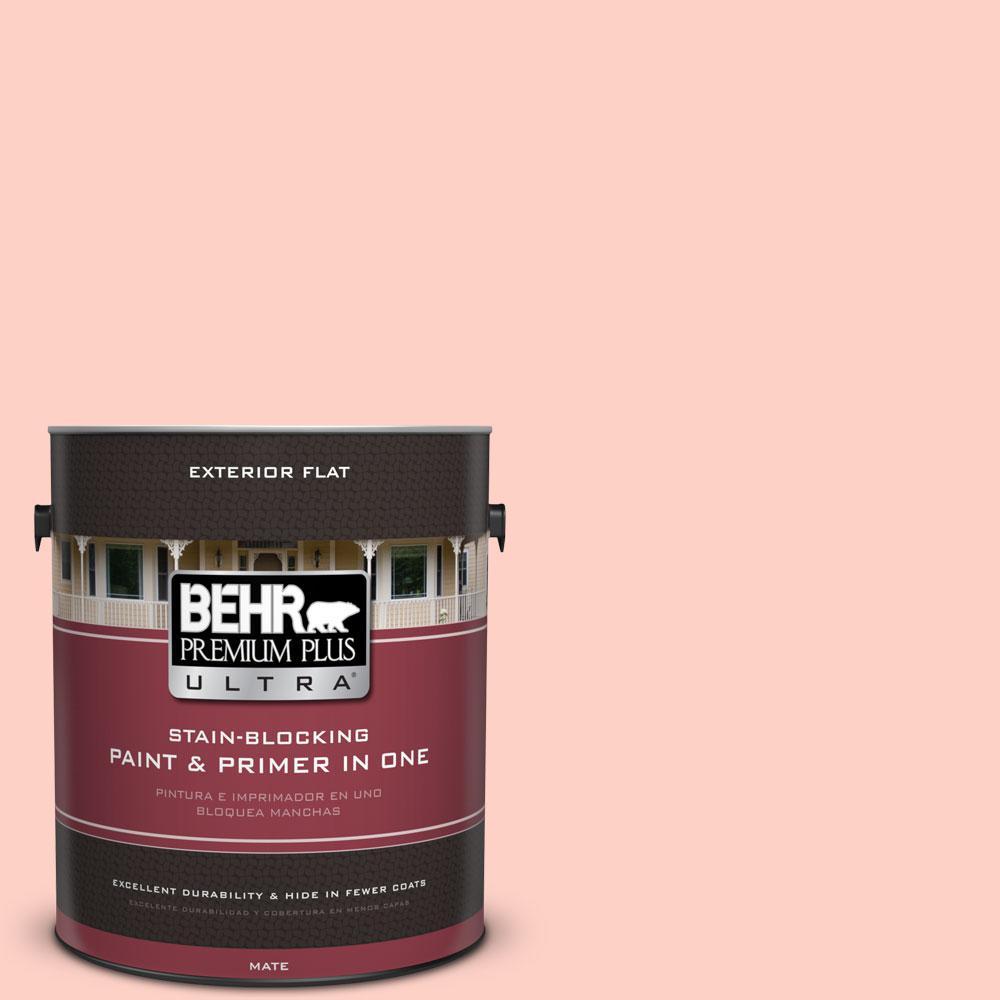 BEHR Premium Plus Ultra 1-gal. #200A-2 Coral Cream Flat Exterior Paint