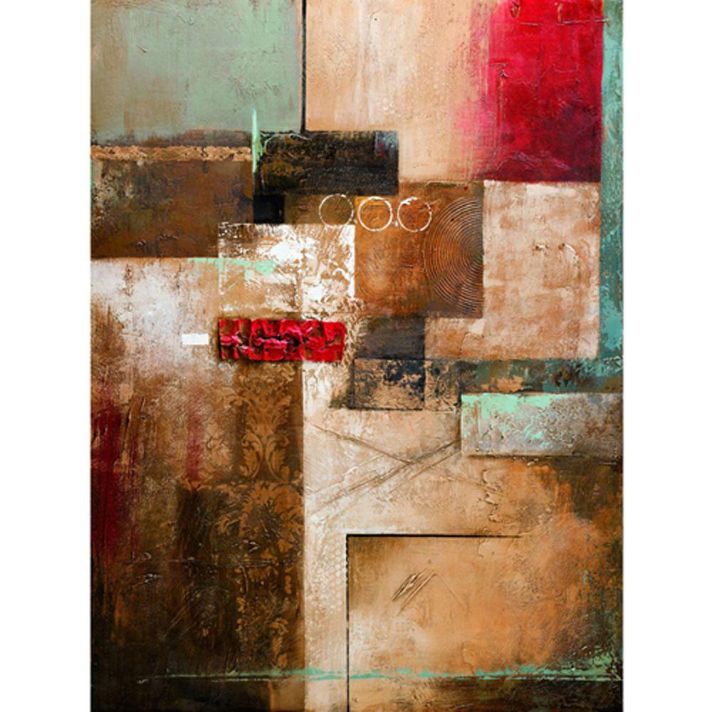 "Yosemite Home Decor 47 in. x 35 in. ""Connecting the Pieces"" Hand Painted Contemporary Artwork"
