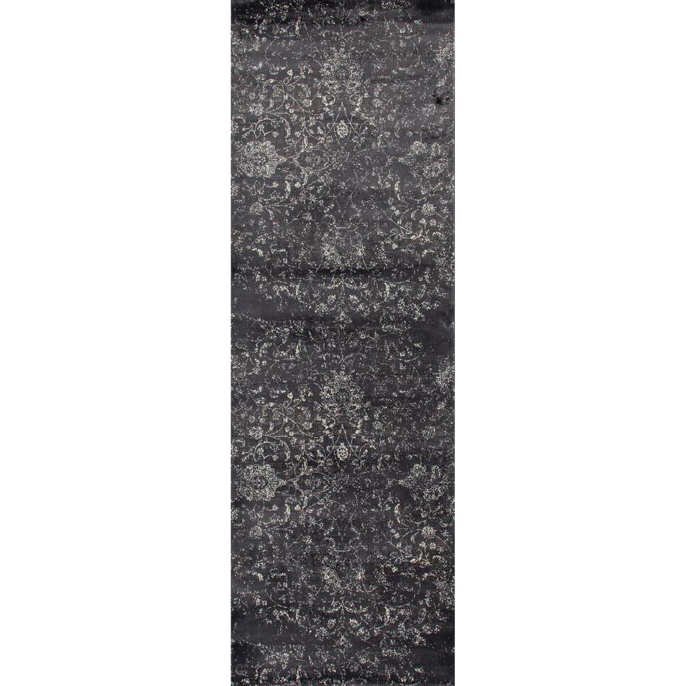 Karelia Ethereal Steel Gray 3 ft. x 8 ft. Runner Rug