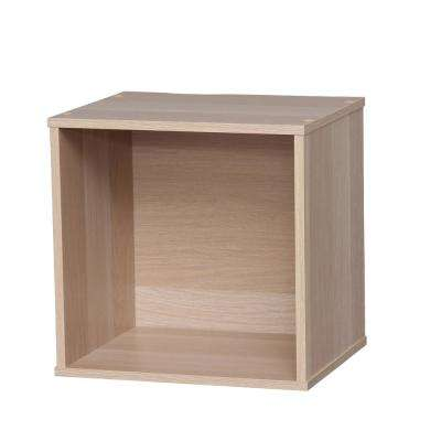 BAKU Light Brown Modular Wood Cube Box