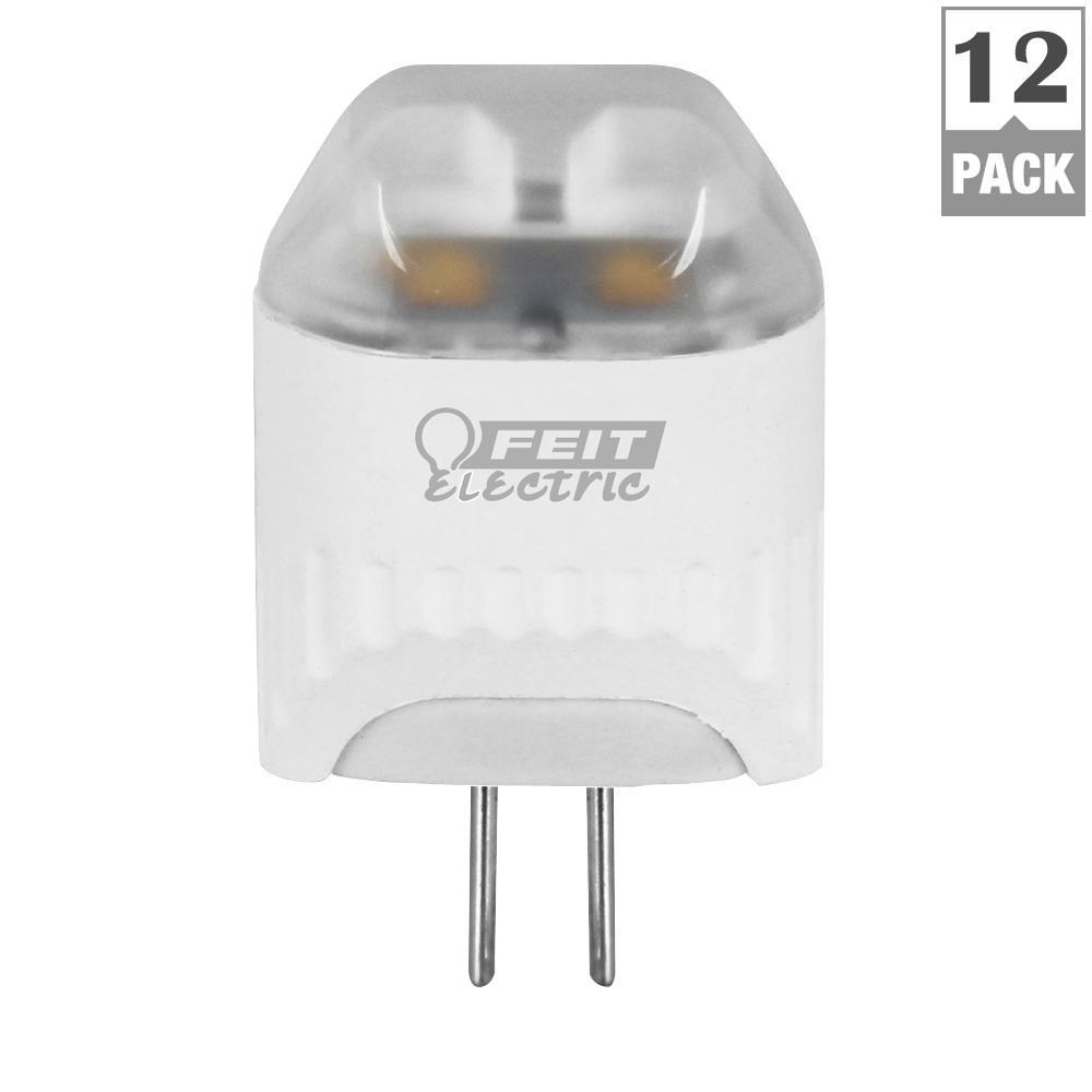 10W Equivalent Warm White (3000K) Wedge G4 Bi-Pin LED 12-Volt Landscape Garden Light Bulb (Case of 12)