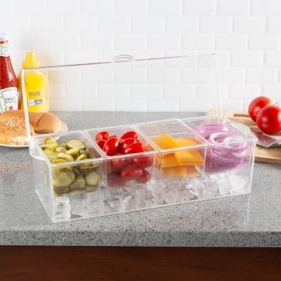 Cold Condiment Tray with Ice Chamber