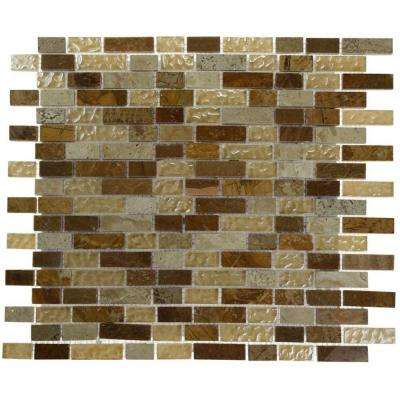 Desert Blend 12 in. x 12 in. x 8 mm Marble and Glass Mosaic Floor and Wall Tile