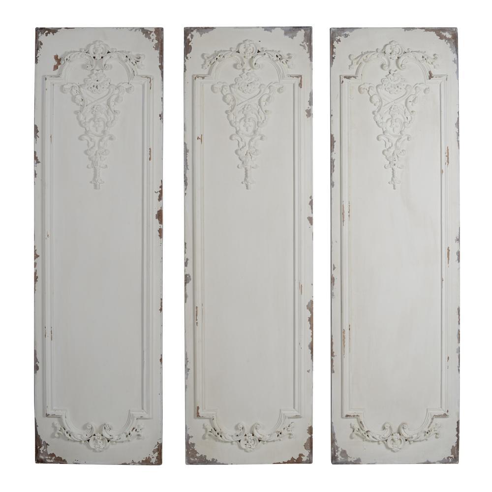 Alcott Antique White Wall Panels (Set of 3)