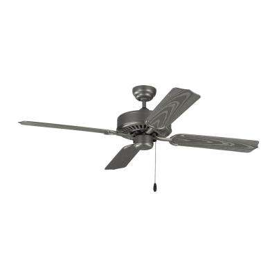 Tucker 52 in. Indoor/Outdoor Painted Brushed Steel Ceiling Fan