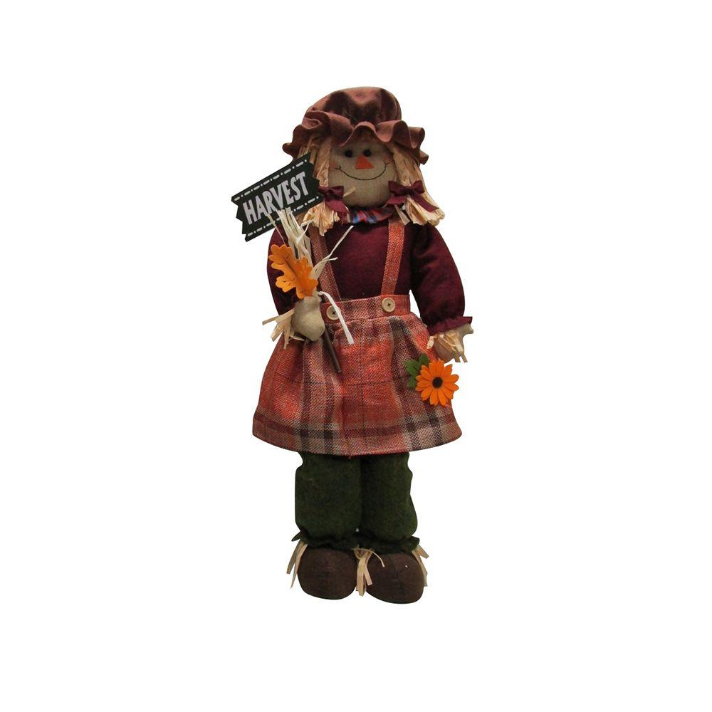 Home accents holiday 32 in harvest scarecrow girl for Scarecrow home decorations co ltd