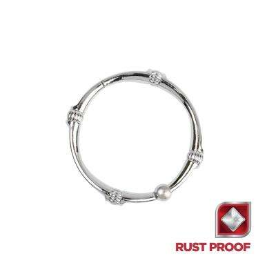 Rustproof Decorative Shower Rings in Chrome (12-Pack)
