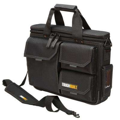 Medium Quick Access Laptop Tool Bag with Shoulder Strap in Black
