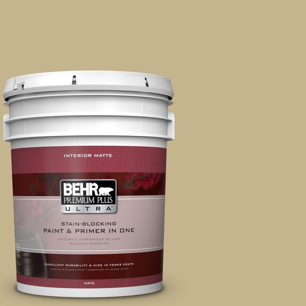 5 gal. #BIC-27 Modish Moss Matte Interior Paint