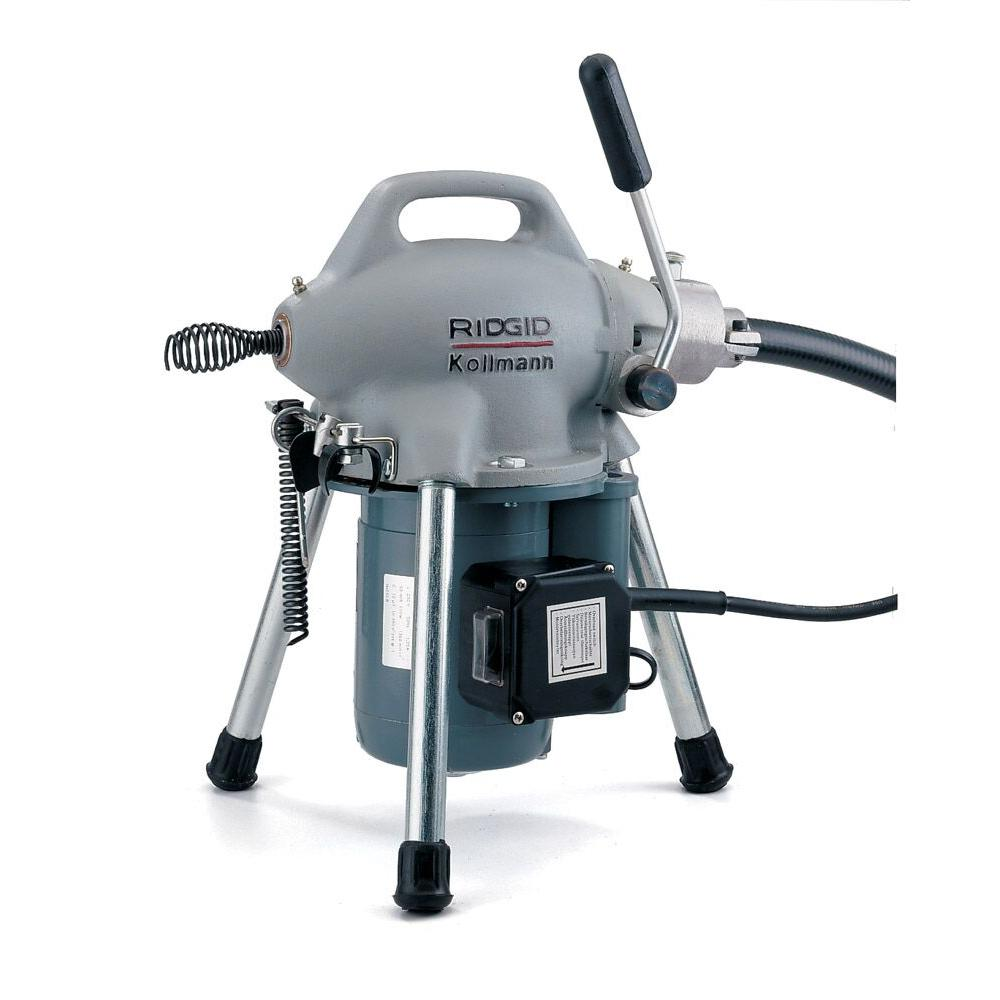 RIDGID 115-Volt K-50 Sectional Drain Cleaner Machine for 1-1/4 in ...