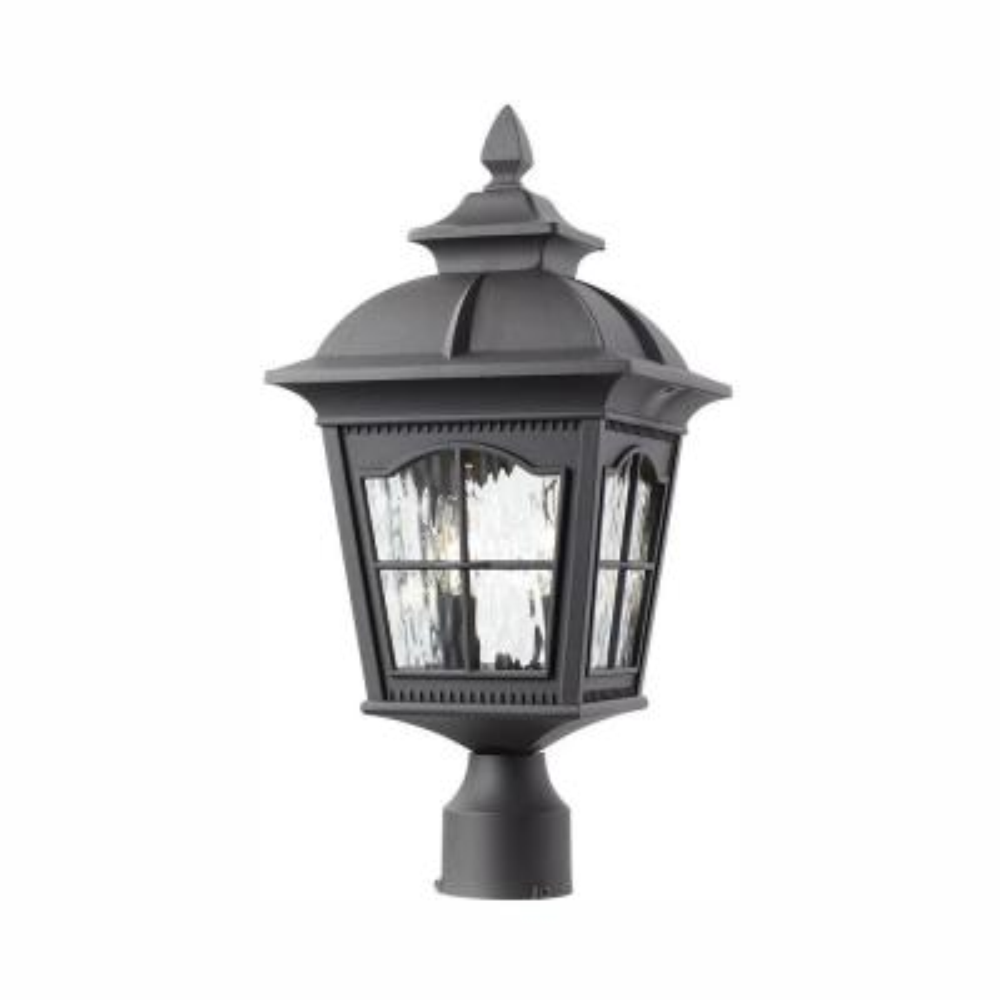 Loridan Square 2-Light Outdoor Black Post Light