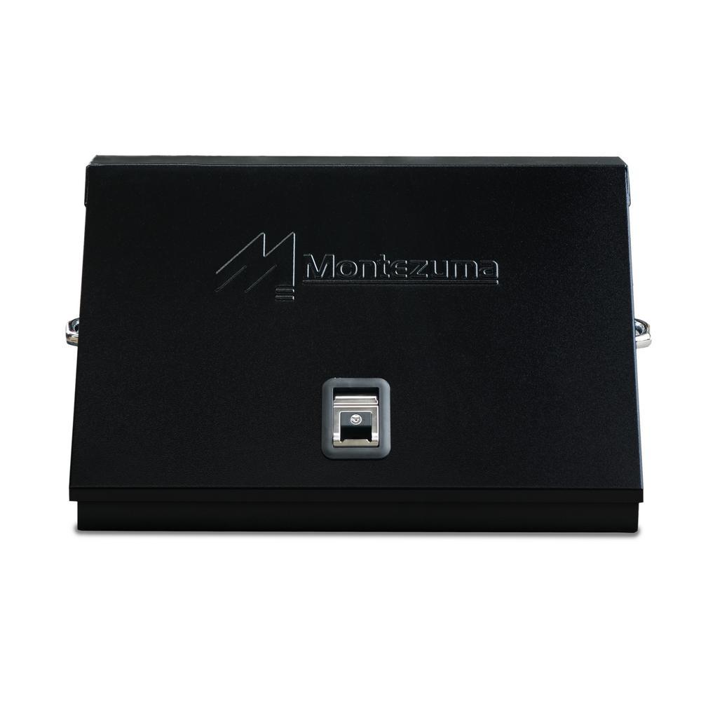 54639cc98ef Montezuma 30 in. 0-Drawer Portable Tool Box in Black Powder Coated ...