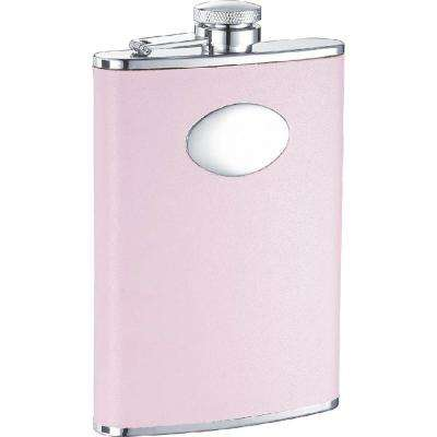 Daydream Pink Leather Hip Flask