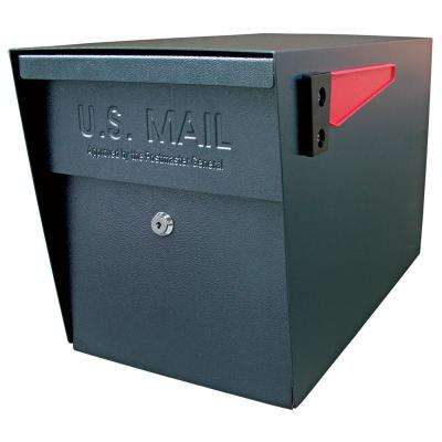 Locking Post-Mount Mailbox with High Security Patented Lock, Black