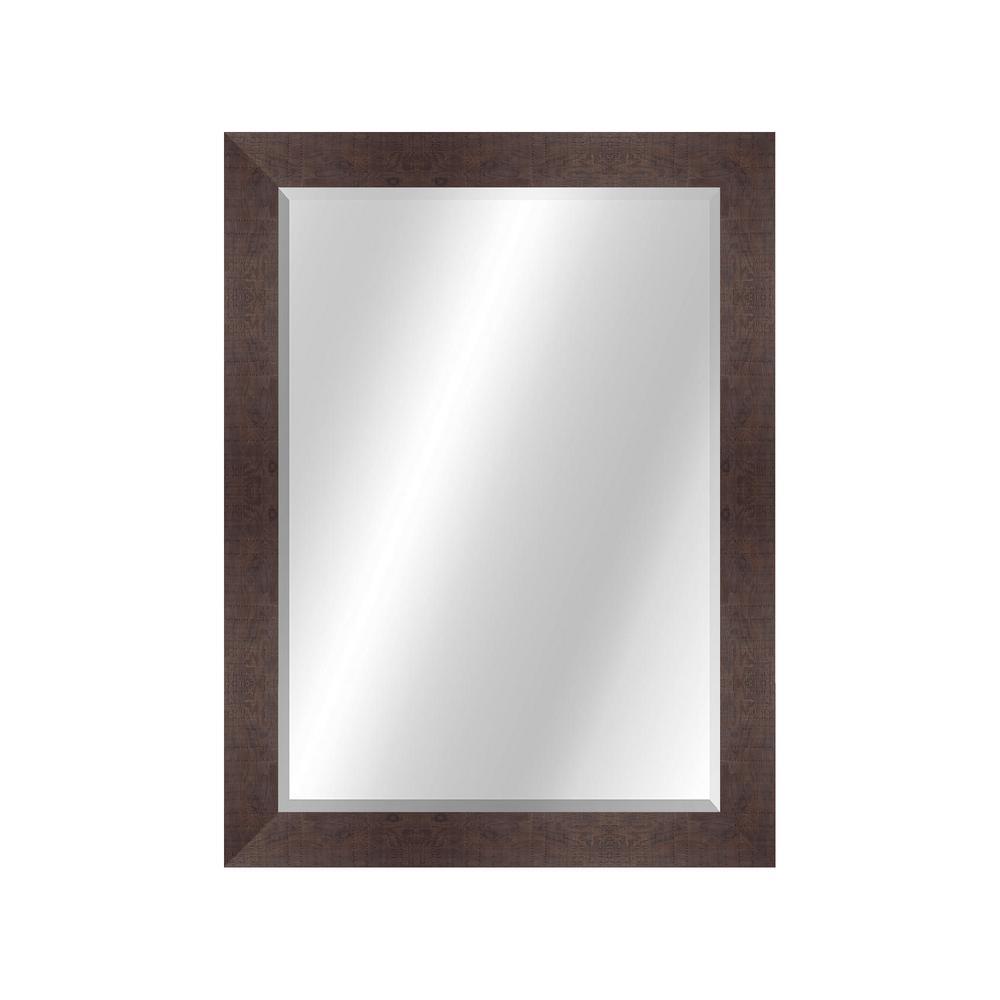 Wood Toned 22 x 28 Value Core Walnut Framed Vanity Mirror